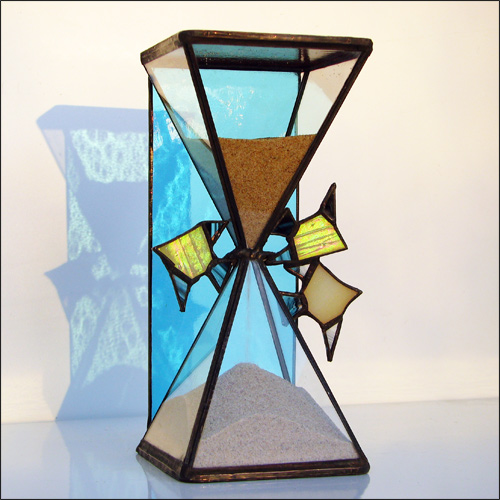 Stained Glass Hourglass Nr.135