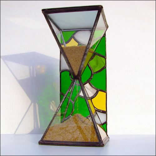 Stained Glass Hourglass Nr.138, Tiffany technique