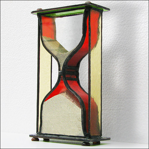 Stained Glass Hourglass Nr.121