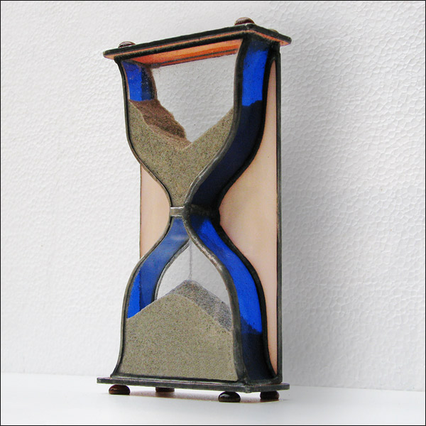 Stained Glass Hourglass Nr.122