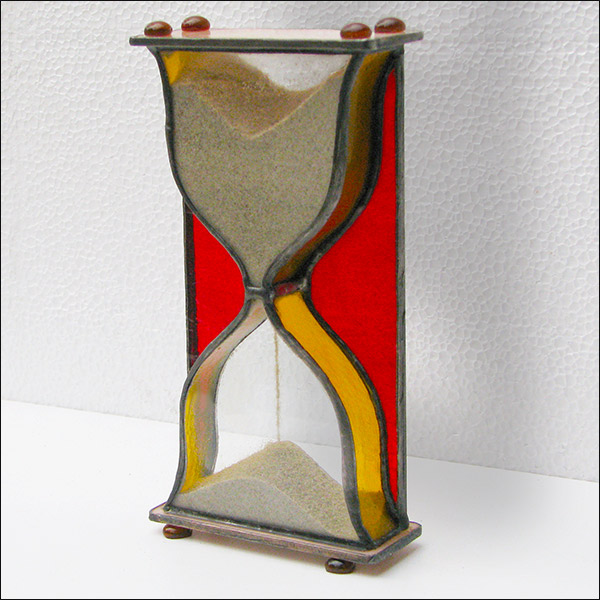 Stained Glass Hourglass Nr.123