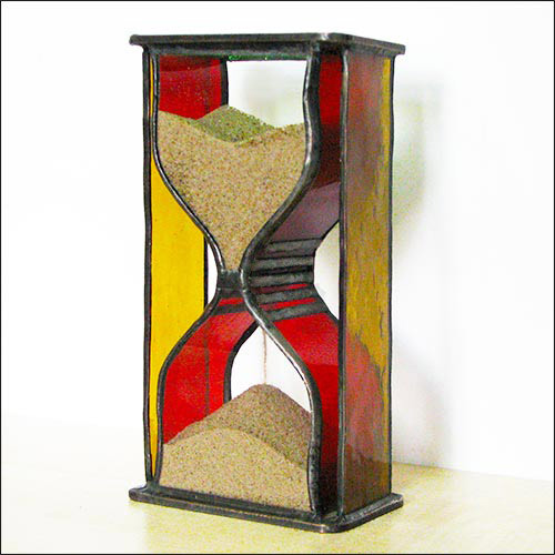 Stained Glass Hourglass Nr.125
