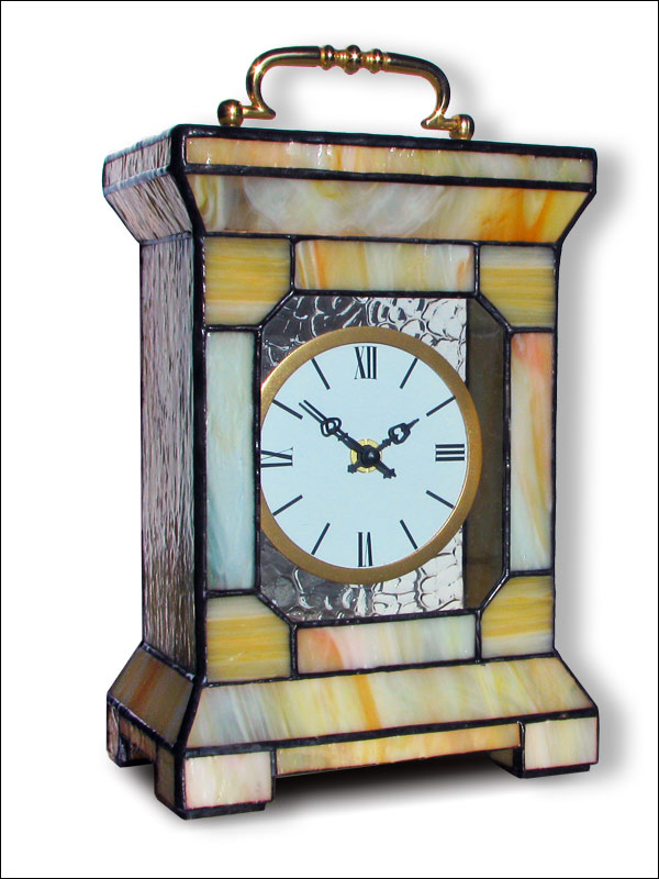 Stained Glass Table Clock, limited edition, Tiffany technique, model Nr. 4743