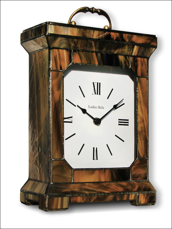 Stained Glass Table Clock, limited edition, Tiffany technique, model Nr. 4750