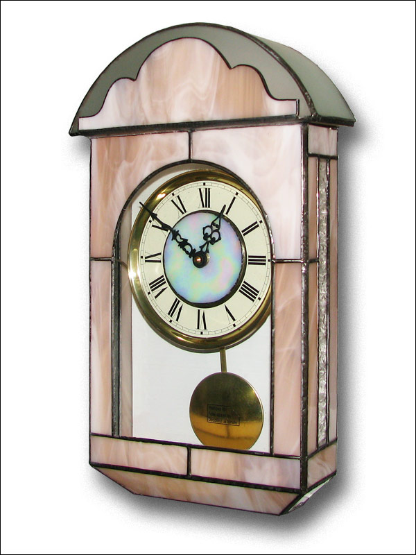 Stained Glass Wall Clock, limited edition, Tiffany technique, model Nr. 4801