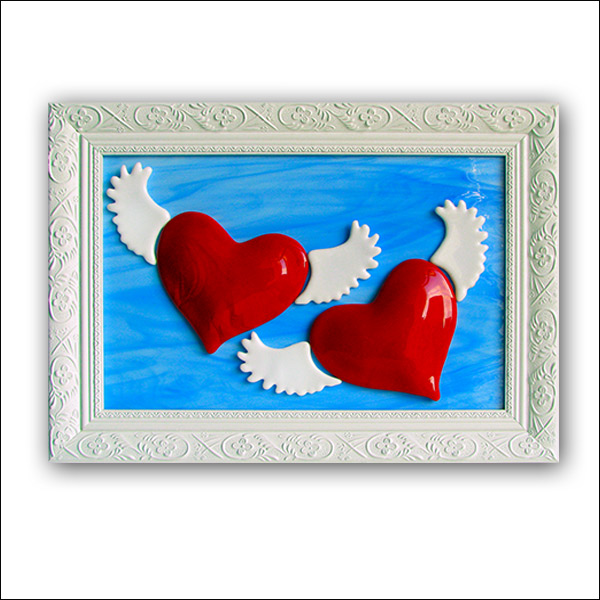 "Wedding gift ""Winged hearts"", model No. 4816"