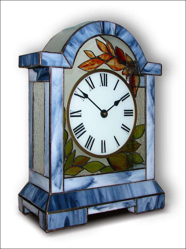 Stained Glass Table Clock, limited edition, Tiffany technique, model Nr. 5060