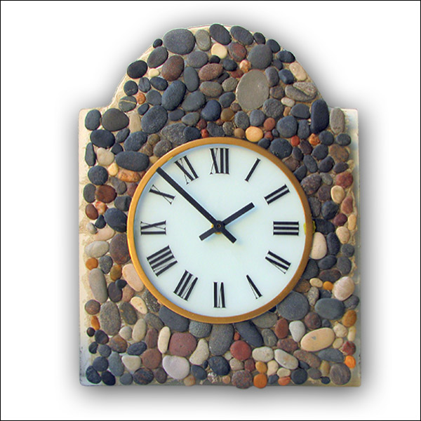 Souvenir wall clock with sea stones Nr. 5460
