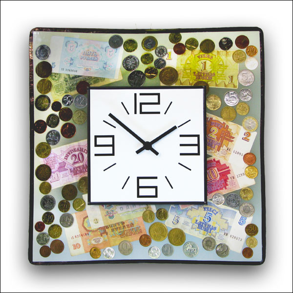 Money Wall Clock Nr. 6367